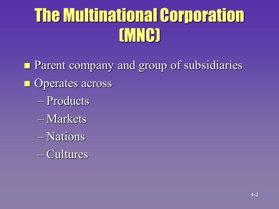 Each Subsidiary Has Its Own n Geography n Goals n Policies n Procedures 4-3