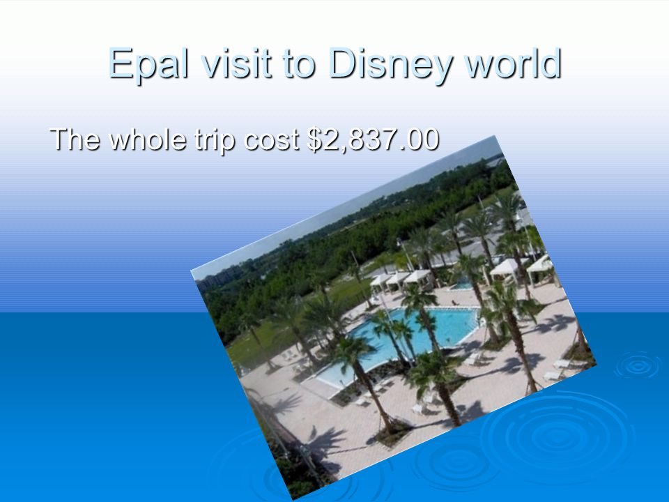 Epal Airfare  The total cost is $1,228.00 in all.