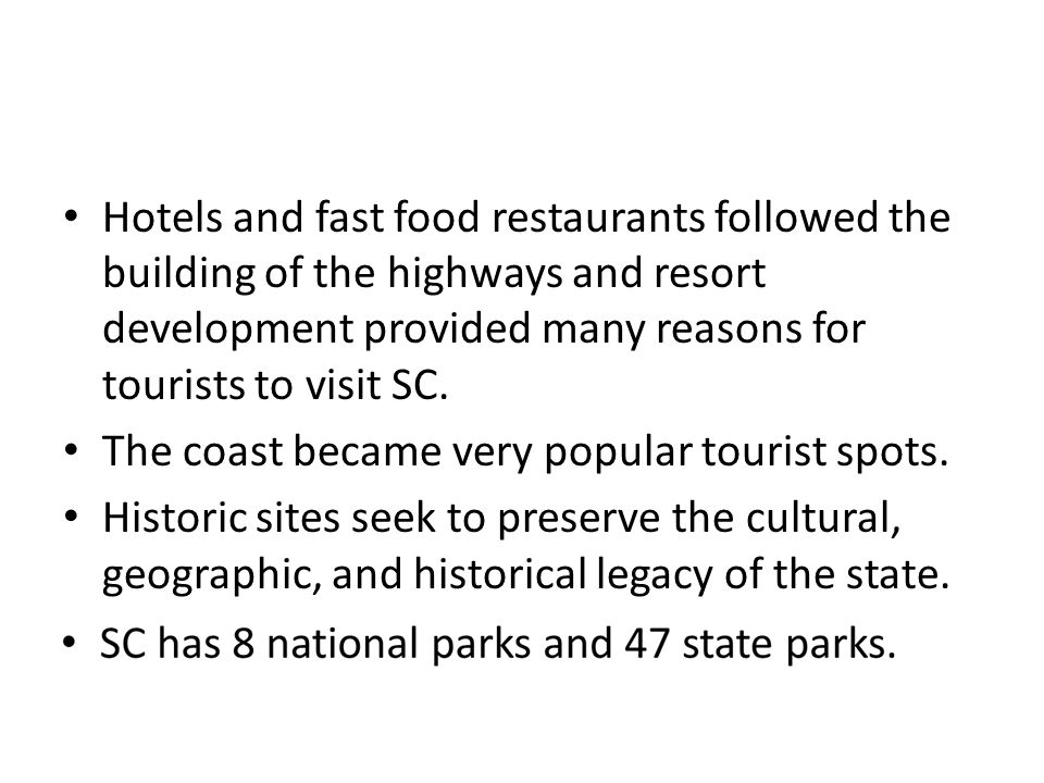 10 tourism districts of SC