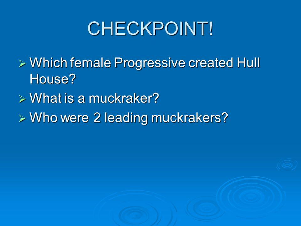 Political Progressivism  The Progressive reformers were mainly middle- class men and women.