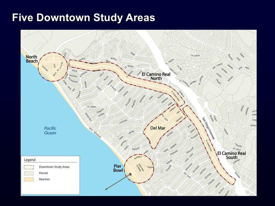 Five Downtown Study Areas