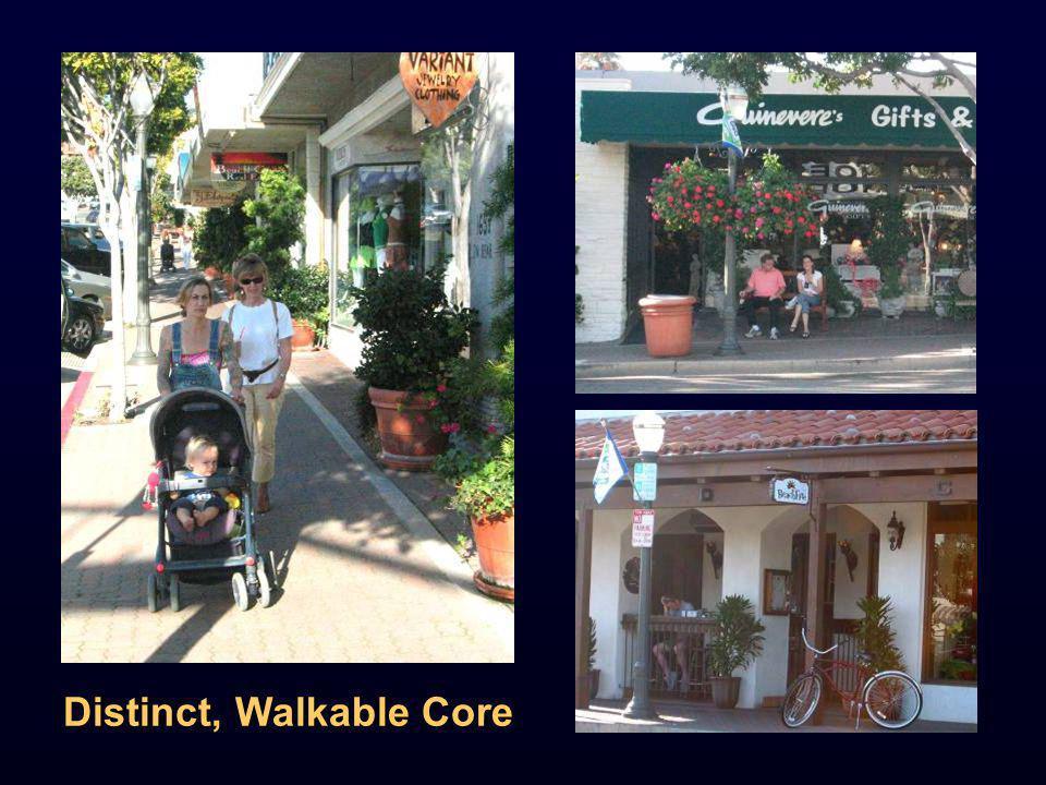 Distinct, Walkable Core