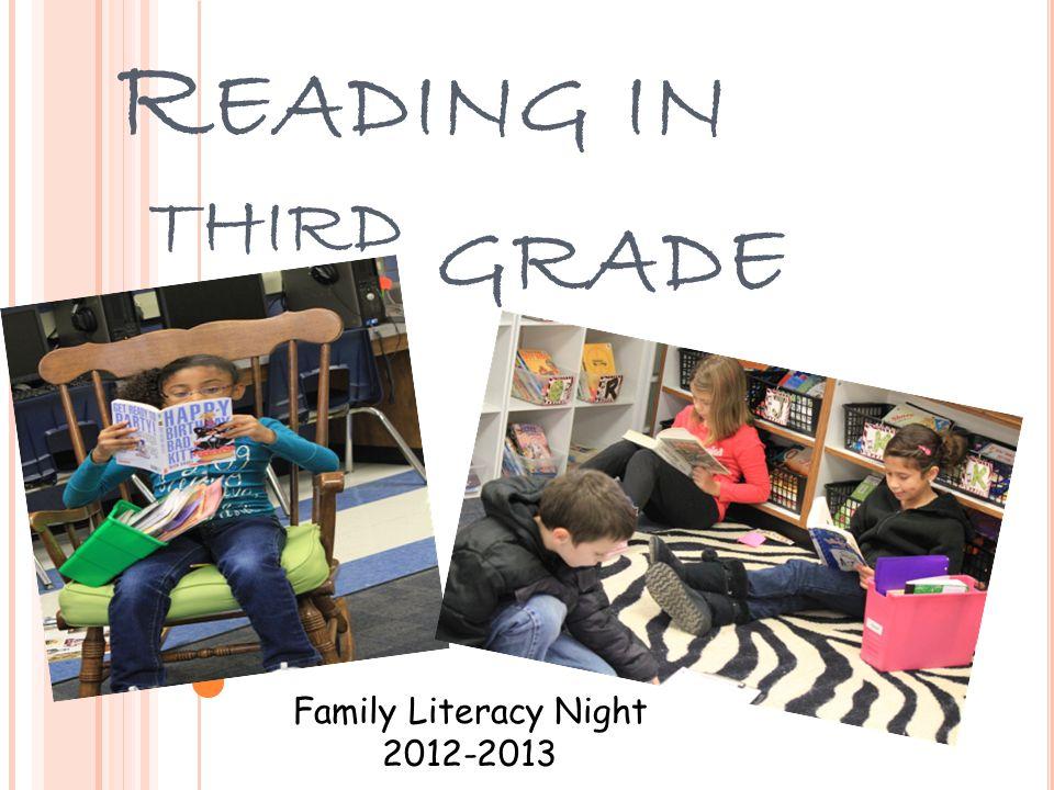 R EADING IN T HIRD GRADE Family Literacy Night 2012-2013