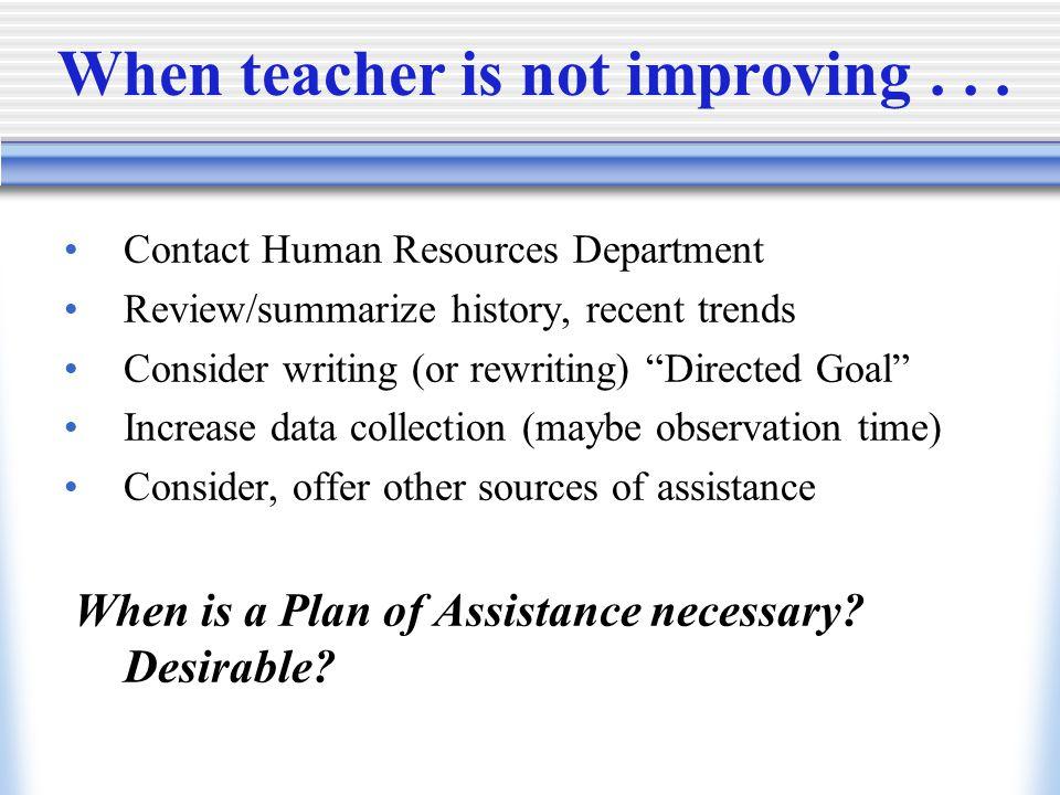 When teacher is not improving...
