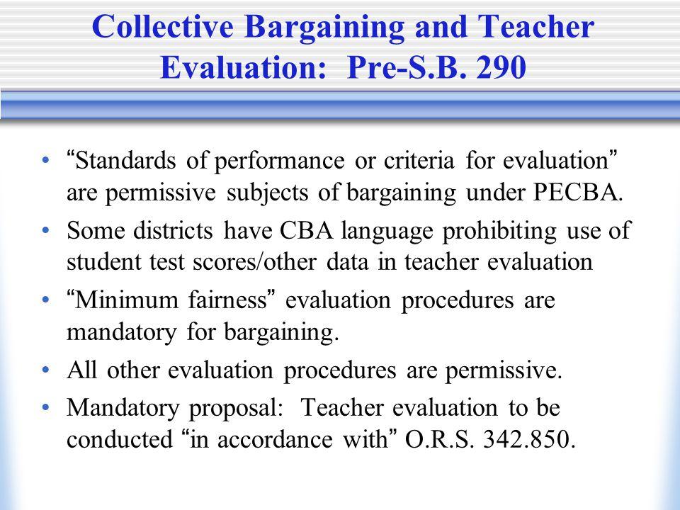 Participation in establishing standards by parents, students, non-union teachers.