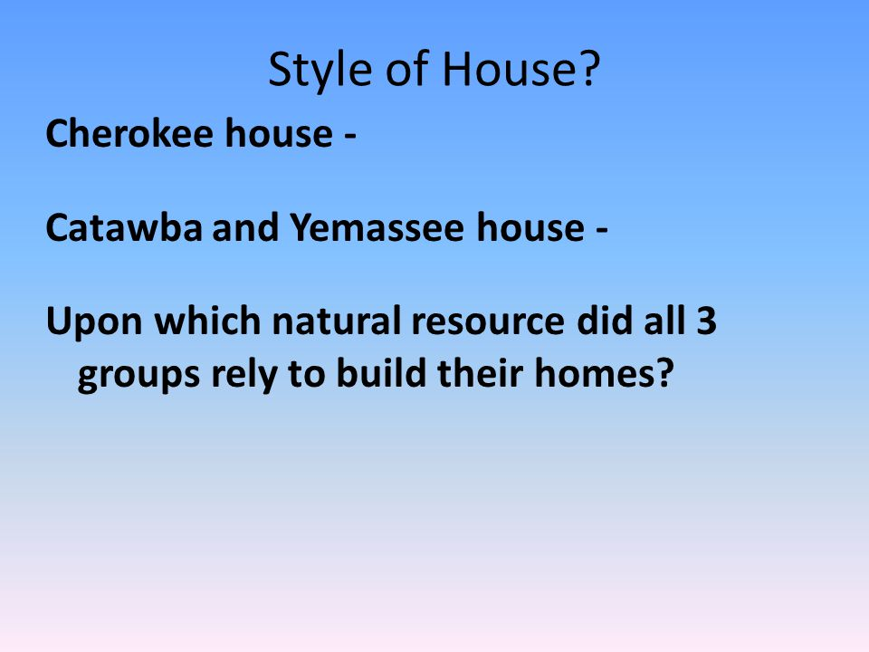 Style of House.