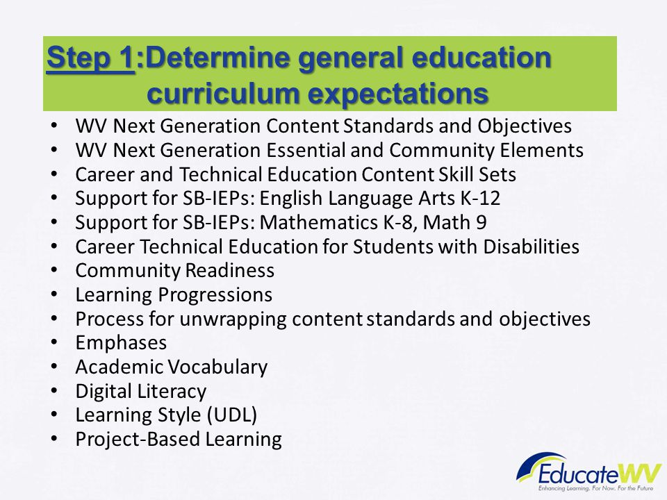 WV Next Generation Content Standards and Objectives WV Next Generation Essential and Community Elements Career and Technical Education Content Skill S