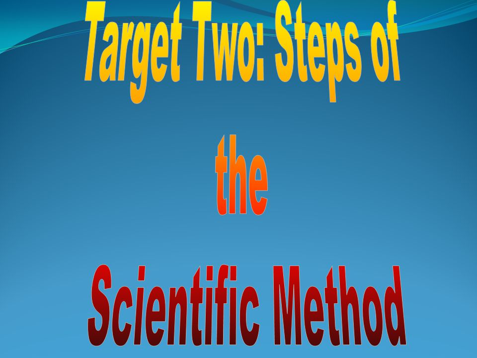 The Scientific Method involves a series of steps that are used to solve a problem