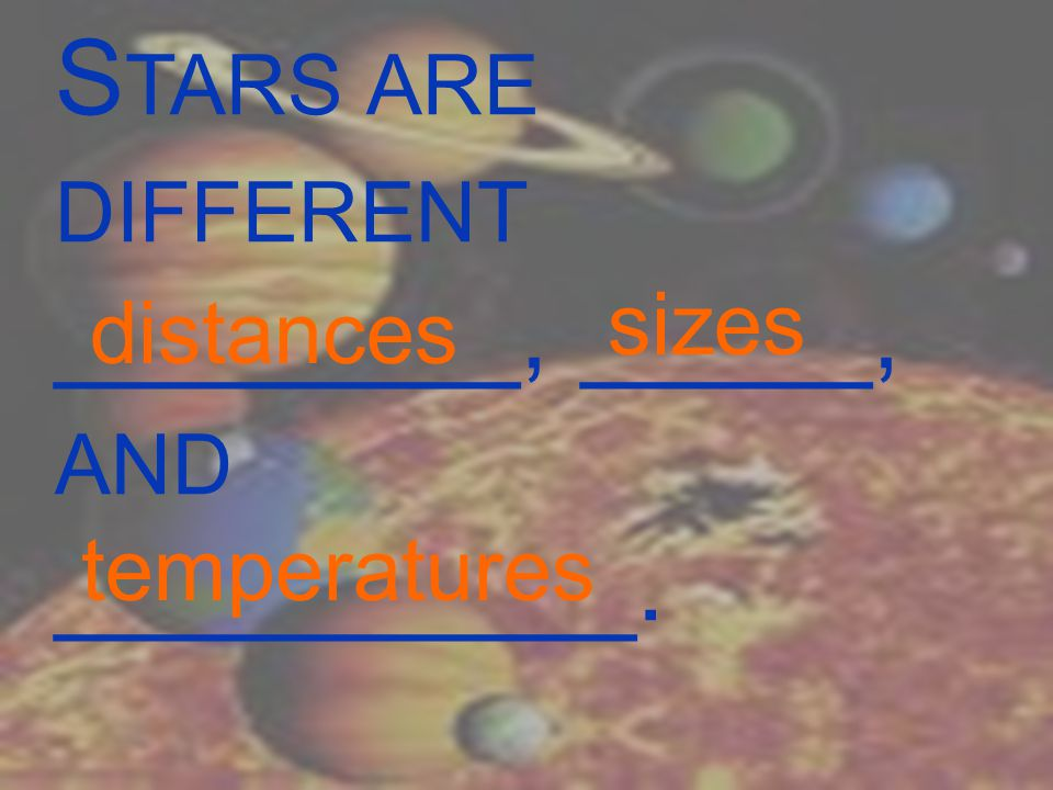 T HE GASES OF A STAR GIVE OFF TWO KINDS OF LIGHT :________( SOLAR ENERGY ) AND __________.