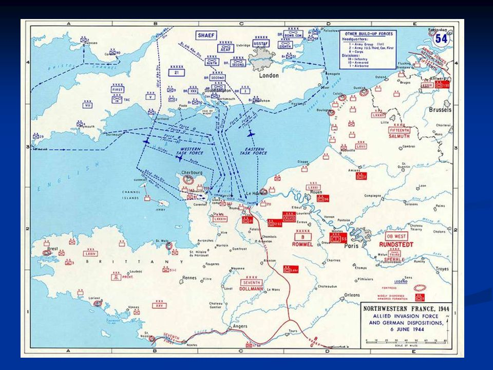 Sword Beach -British British Commandos clear most obstacles before landing force British Commandos clear most obstacles before landing force Not much action on the beach and British quickly link up with paratroopers Not much action on the beach and British quickly link up with paratroopers Objective is Caen but the British are quickly slowed by a German counter-attack Objective is Caen but the British are quickly slowed by a German counter-attack