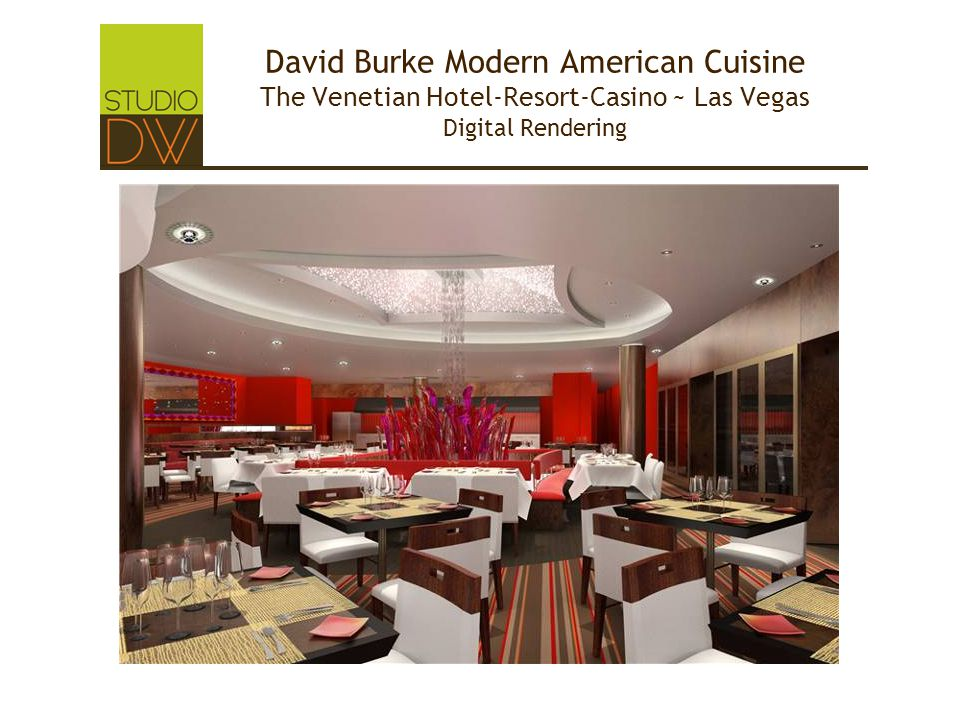David Burke Modern American Cuisine The Venetian Hotel-Resort-Casino ~ Las Vegas Digital Rendering