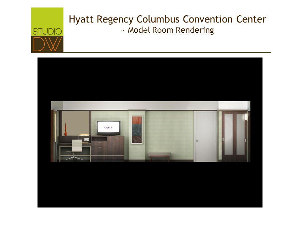 Hyatt Regency Columbus Convention Center ~ Model Room Rendering
