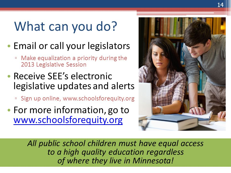 The Erosion of Equalization St. Michael – Albertville Public Schools 13