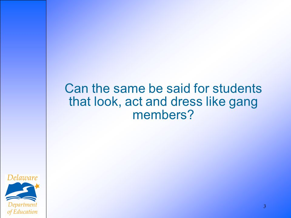 Follow your school's established procedure for reporting criminal youth gang activity.