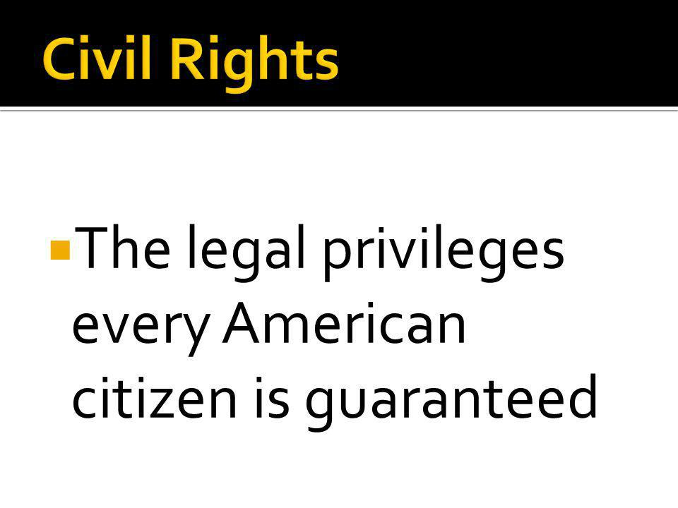  The legal privileges every American citizen is guaranteed