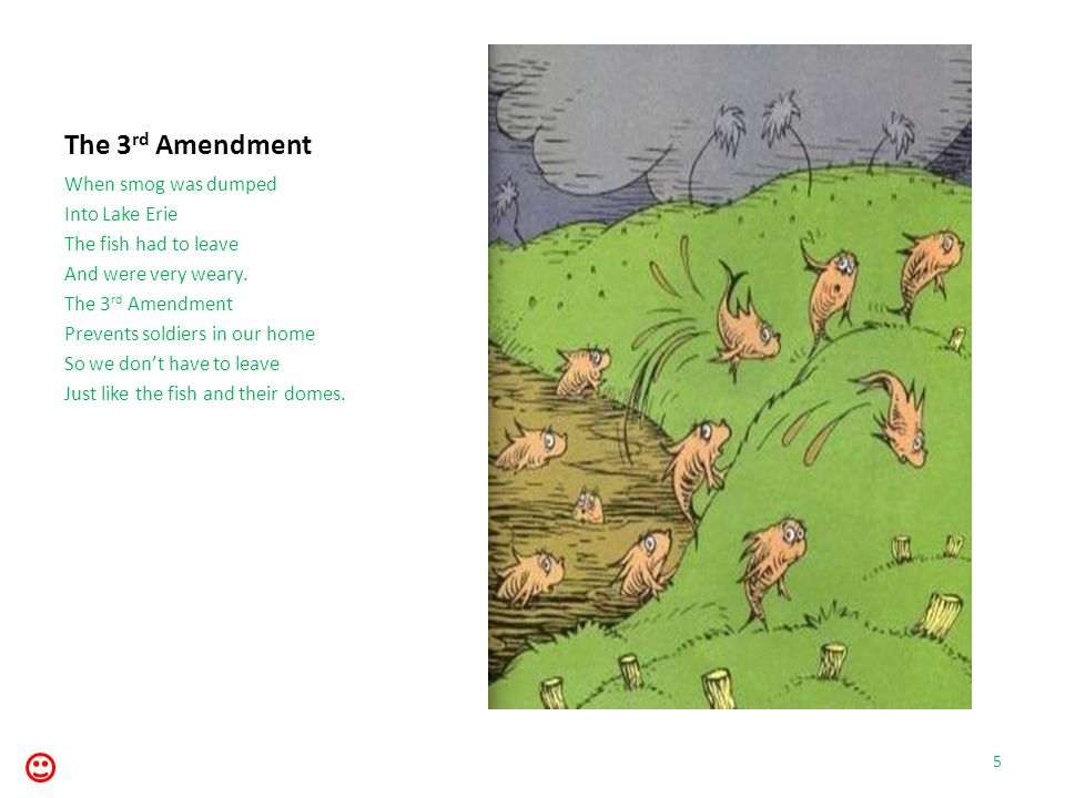 The 27 th Amendment Amendment 26 moves The voting age down To eighteen Without a frown. 26