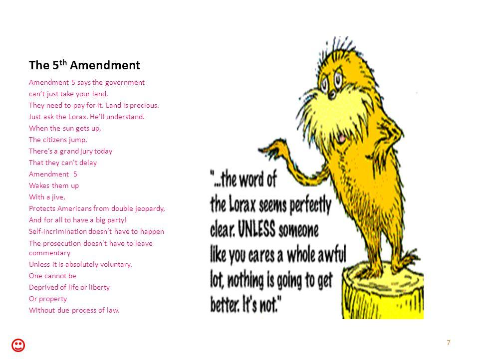 The 6 th Amendment Amendment 6 states That we have the right To fair a trial That won't take awhile.