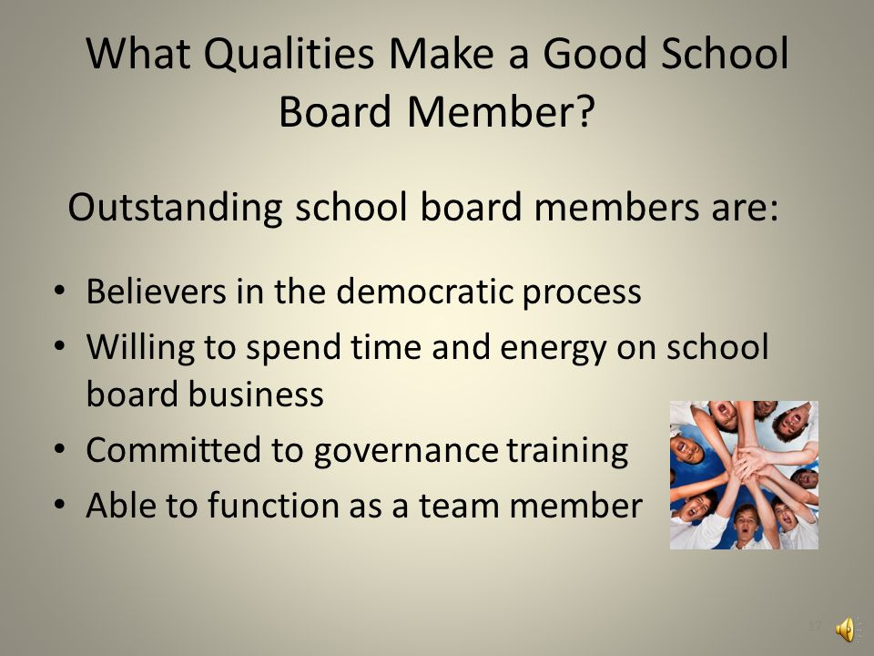 What Qualities Make a Good School Board Member.