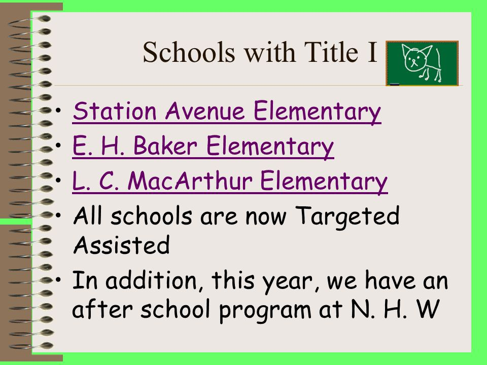 Schools with Title I Station Avenue Elementary E.H.