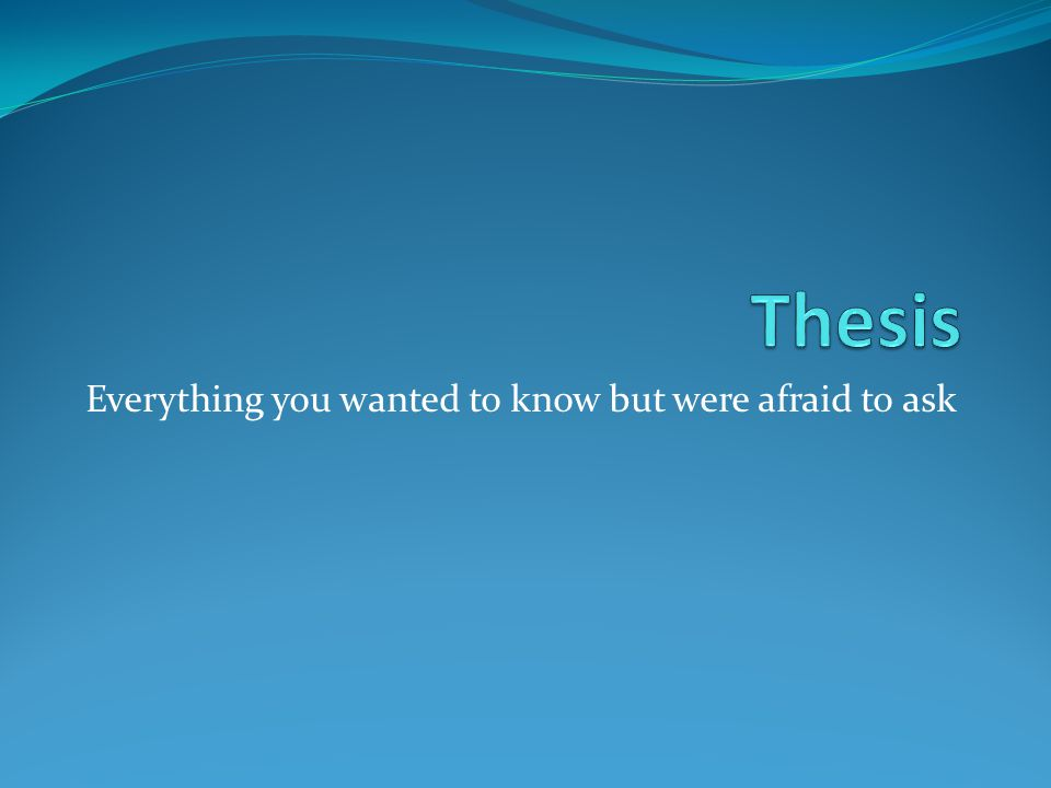 What is the thesis of an essay.