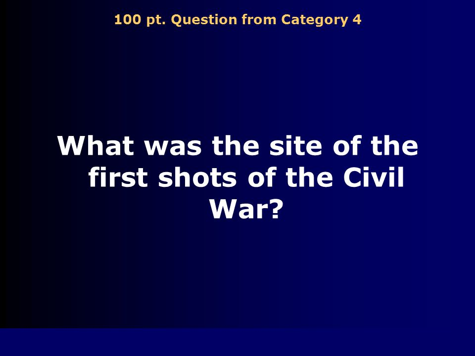 500 pt. Answer from Category 3 Jefferson Davis