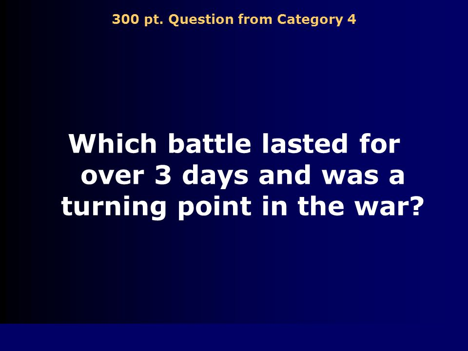 200 pt. Answer from Category 4 Bull Run