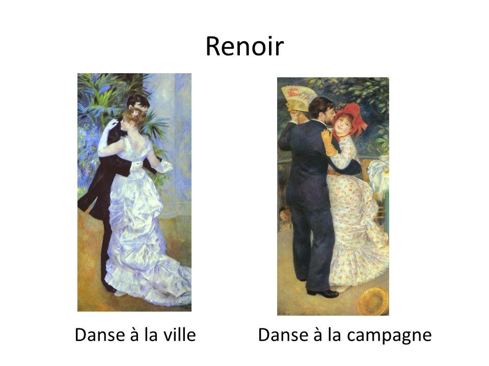 Renoir Danse à la ville Danse à la campagne