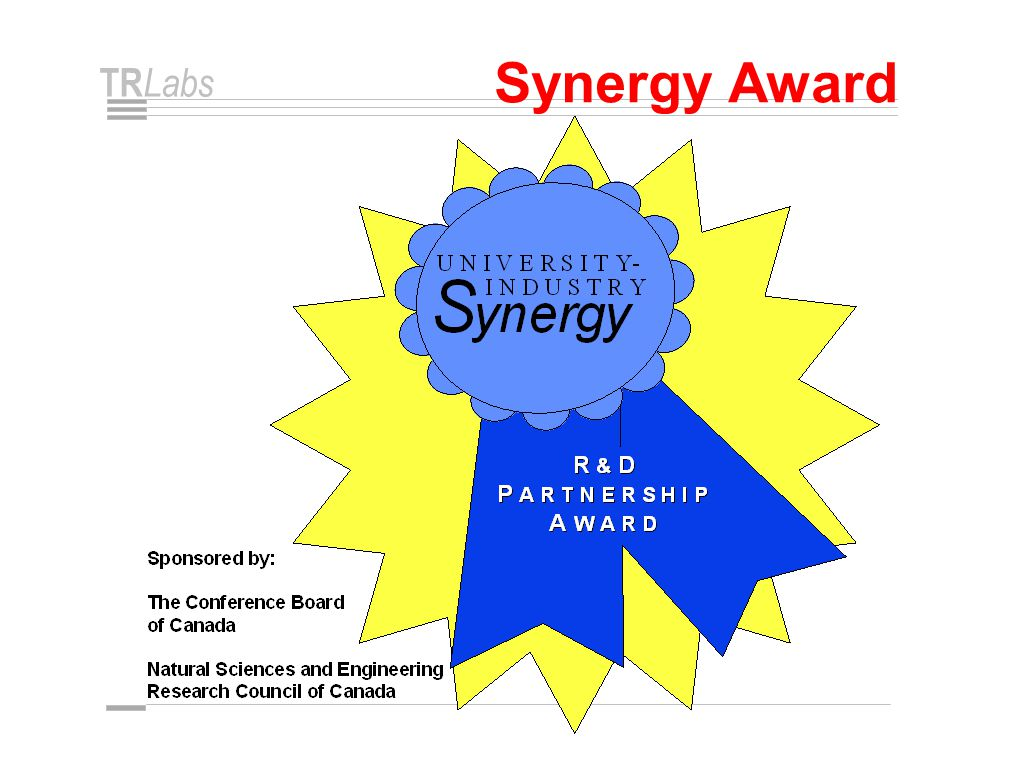 TR Labs Synergy Award