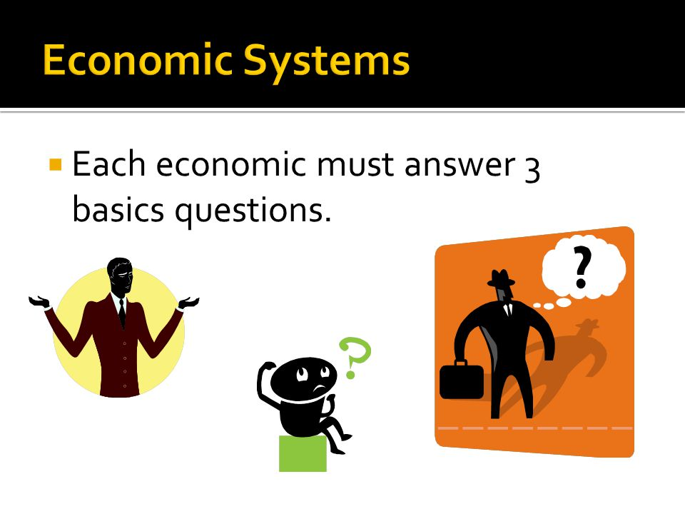  Each economic must answer 3 basics questions.