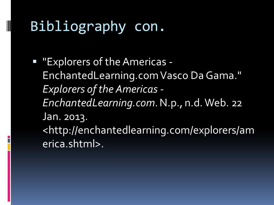 Bibliography con.