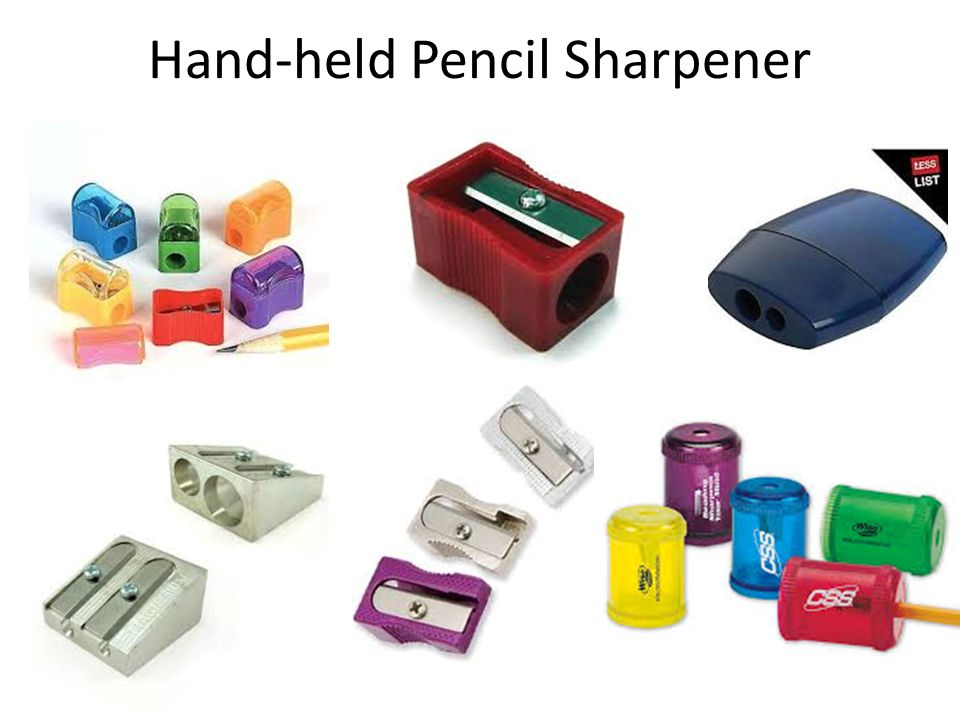 Hand-held Pencil Sharpener