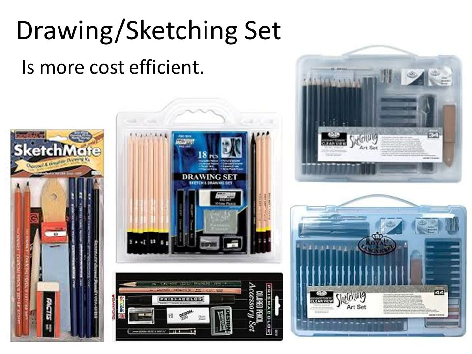 Drawing/Sketching Set Is more cost efficient.