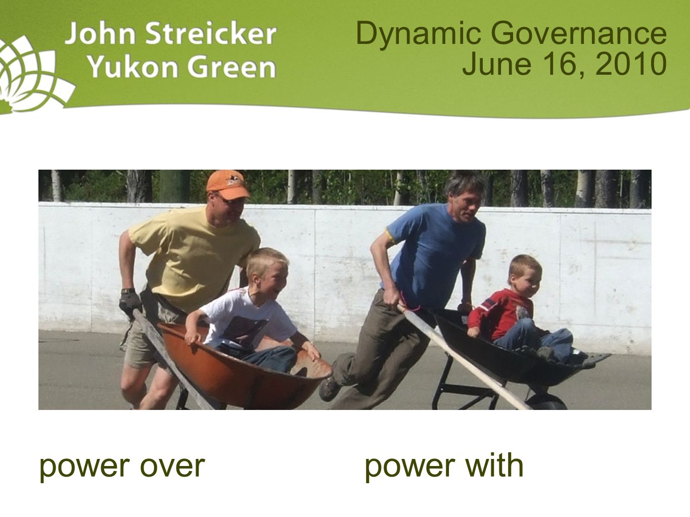 power overpower with Dynamic Governance June 16, 2010