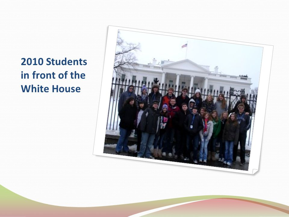 2010 Students in front of the White House