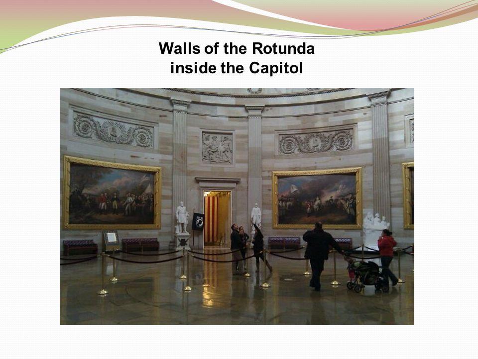 Walls of the Rotunda inside the Capitol