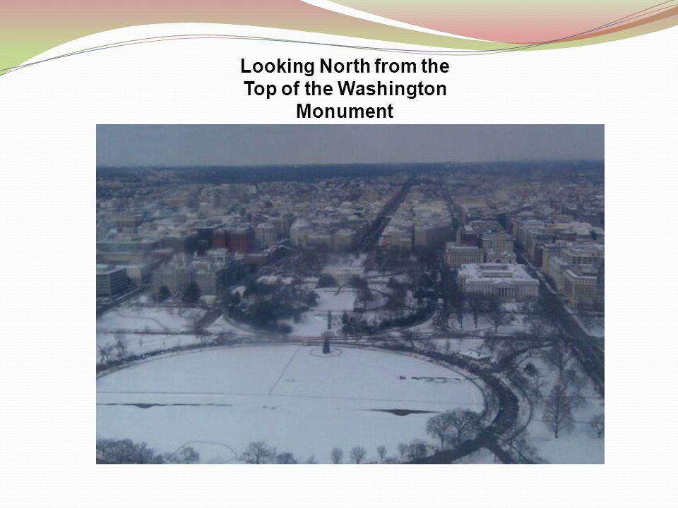 Looking North from the Top of the Washington Monument