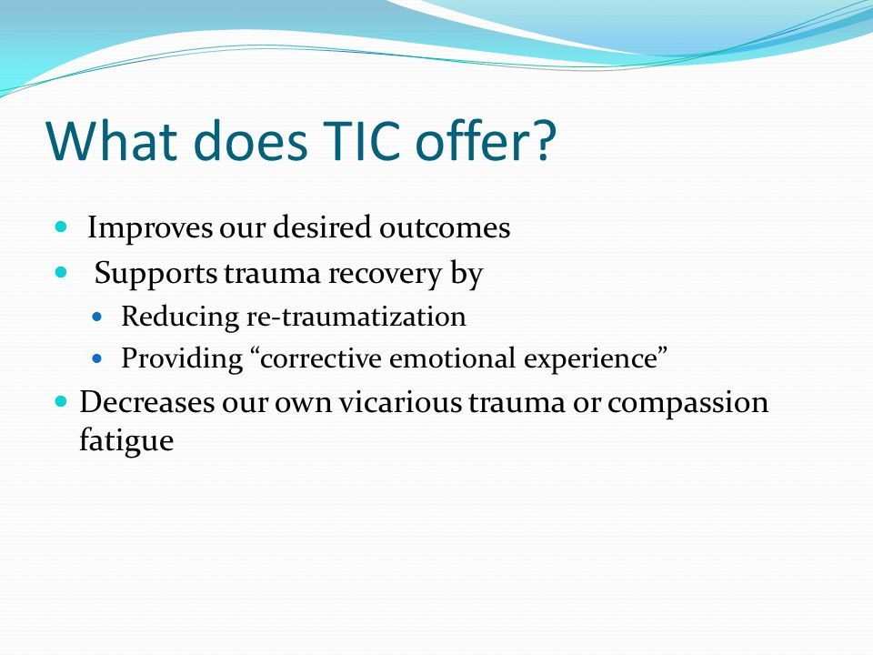 What does TIC offer.