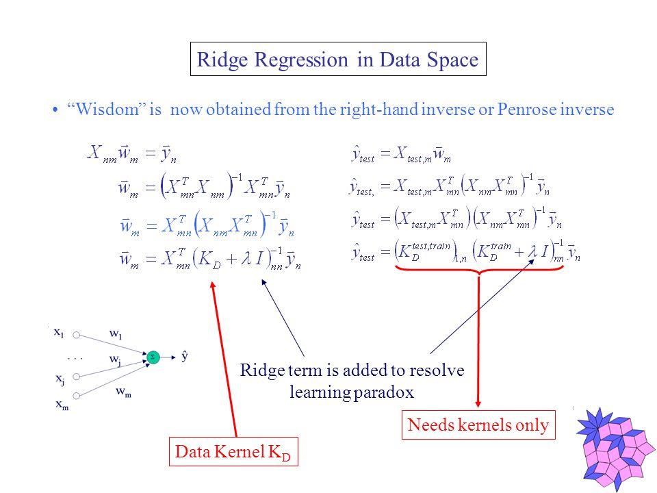 Implementing Direct Kernel Methods Linear Model: - PCA model - PLS model - Ridge Regression - Self-Organizing Map...