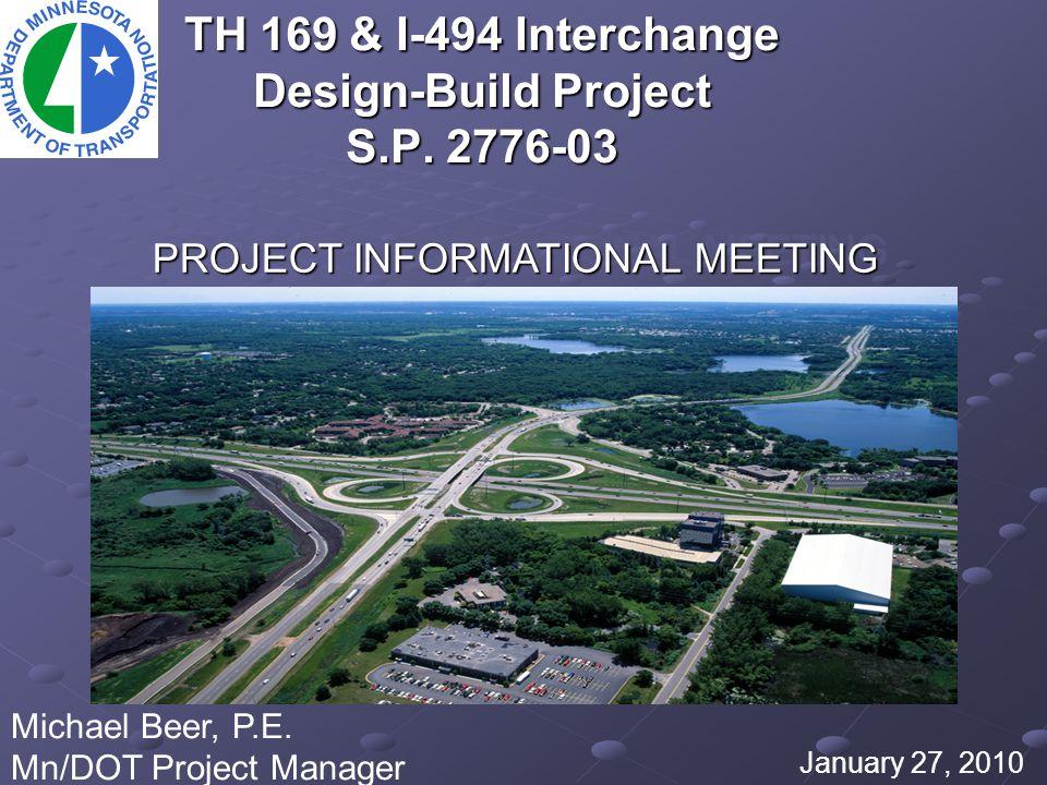 TH 169 & I-494 Interchange Design-Build Project S.P.