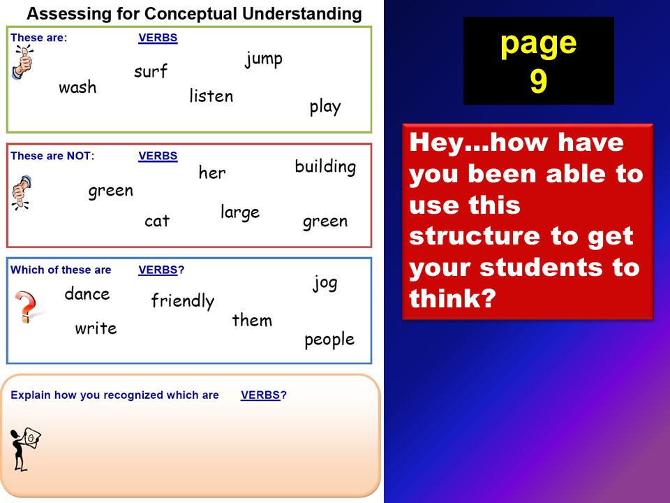 Hey…how have you been able to use this structure to get your students to think page 9