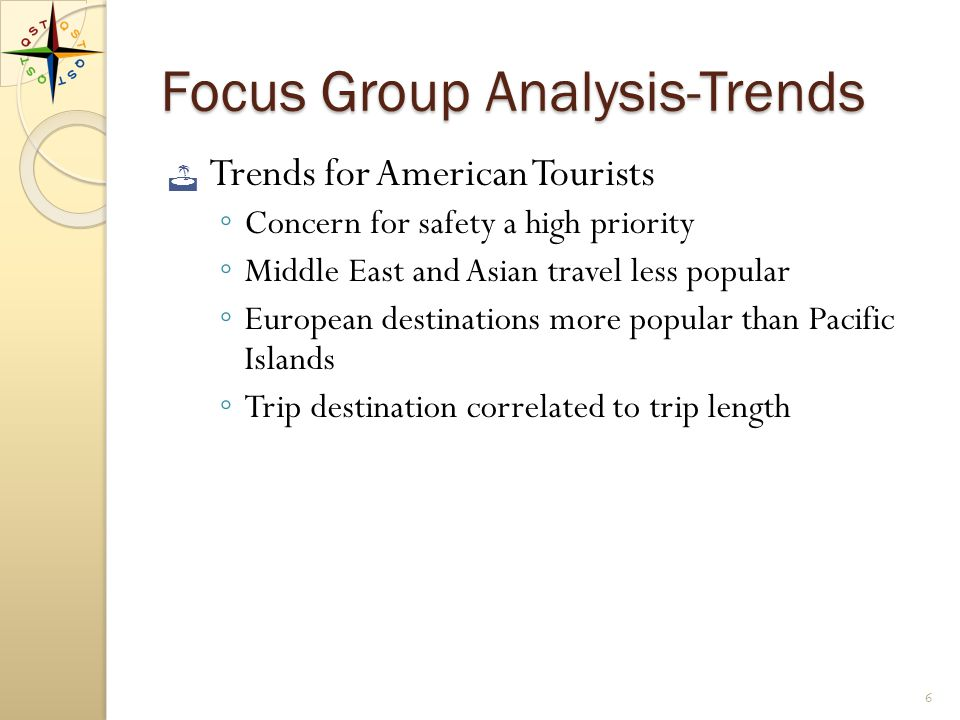 Focus Group Data Analyzed TRENDS MAJOR FINDINGS CONCLUSIONS 5