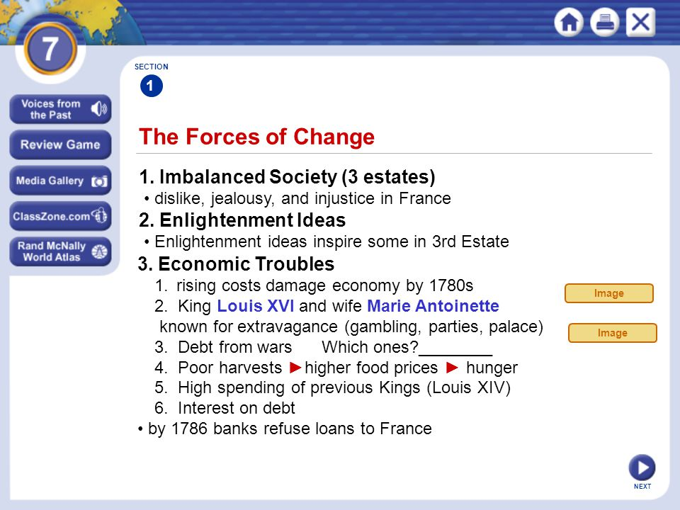 4.A Weak Leader (King Louis XVI) indecisive and doesn't act impatient and disinterested in gov.