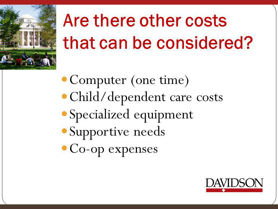 Are there other costs that can be considered.