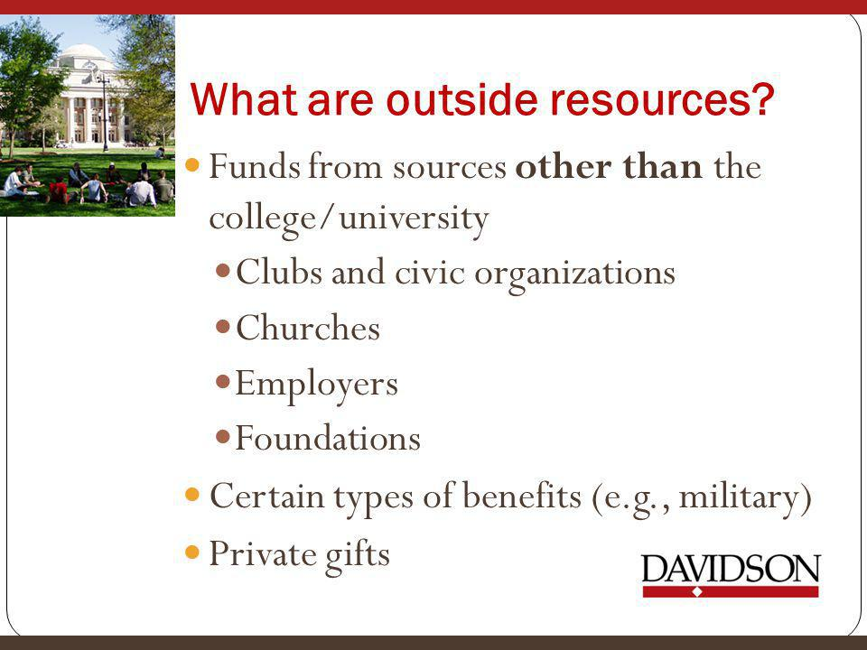 What are outside resources.