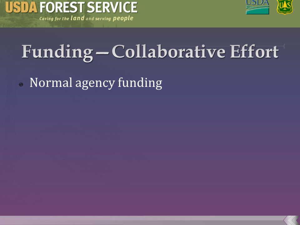  Normal agency funding