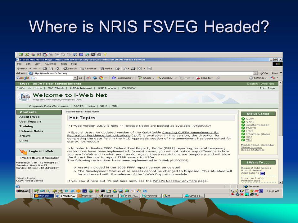 Where is NRIS FSVEG Headed?