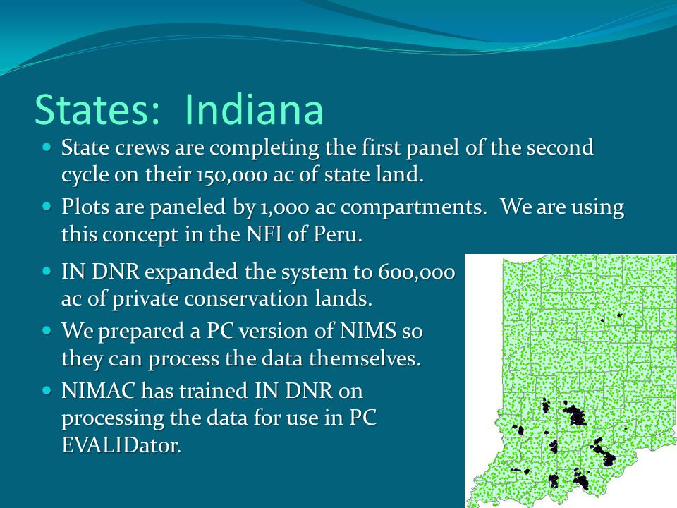 States: Missouri Missouri crews have finished the third season of fieldwork on 600,000 ac of State Forest land.