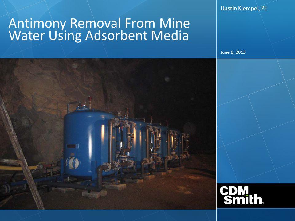 Effect of Manganese and Influent Antimony with pH Adjustment to 5.5 su ASMR 2013 – Laramie, WY