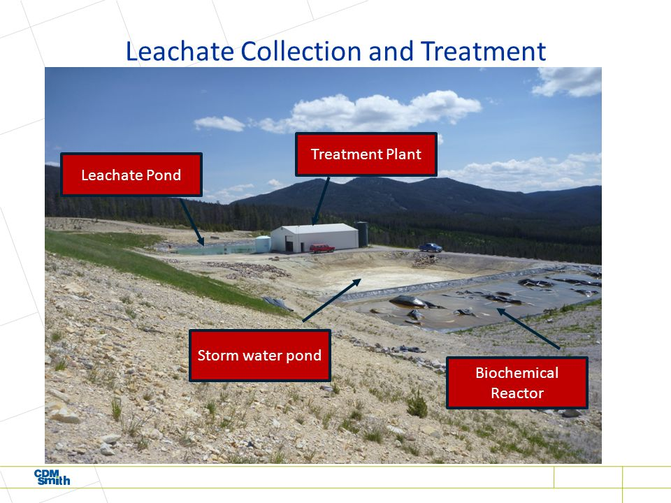 Leachate Collection and Treatment Biochemical Reactor Leachate Pond Treatment Plant Storm water pond