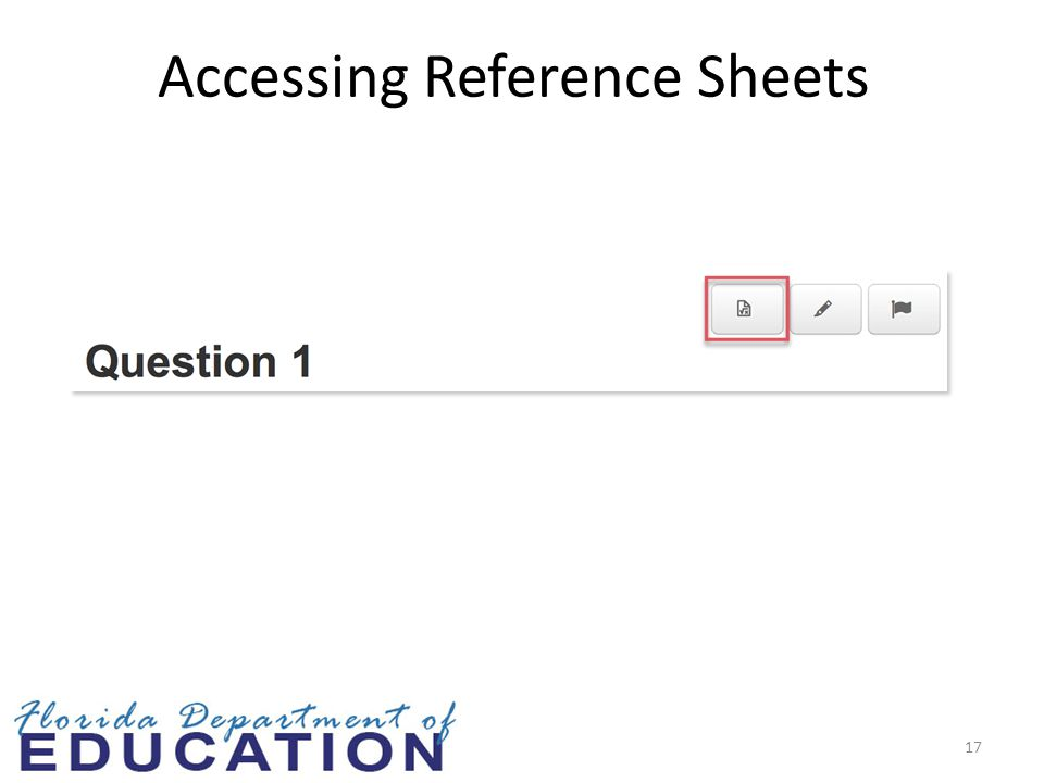 17 Accessing Reference Sheets